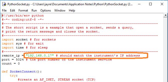 Open Socket LAN connection using Python | Siglent