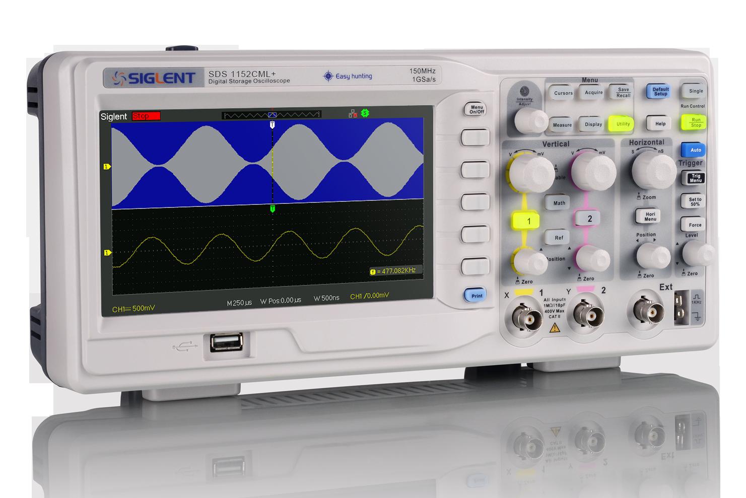 Digital Storage Oscilloscope 100 MHz Siglent Technologies SDS1102CML